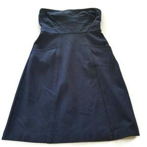 Theory Size 6 Clemins Strapless Tube Dress